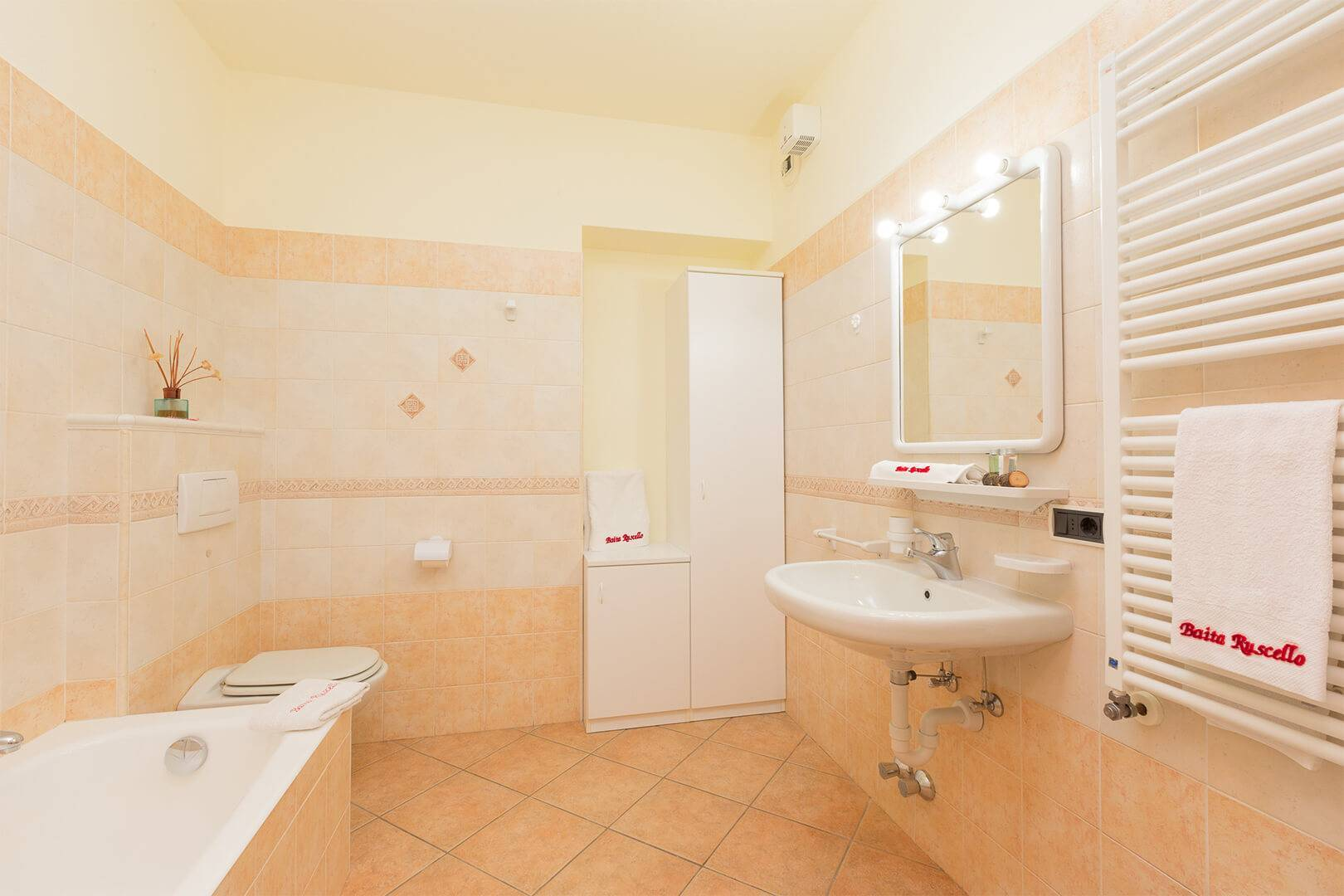 Large bathroom in your apartment in Livigno